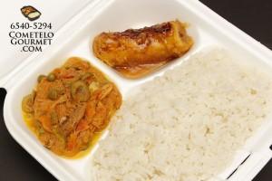 Bacalao leche coco arroz blanco - Cometelo Gourmet