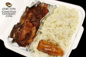 Rabito con poroto y arroz verde - Cometelo Gourmet