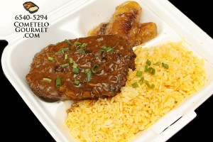 Pastel de carne y arroz amarillo - Cometelo Gourmet