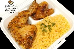 Pollo guisado y arroz amarillo - Cometelo Gourmet