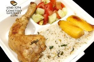 Pollo al horno y arroz.verde - Cometelo Gourmet